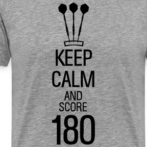 keep calm and score 180 darts Shirt - Männer Premium T-Shirt