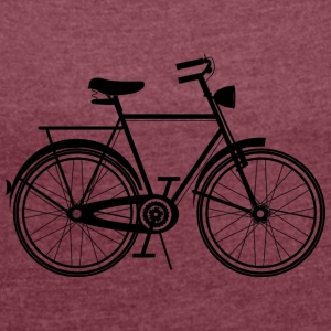 nostalgic bike  T-Shirts - Women's T-shirt with rolled up sleeves