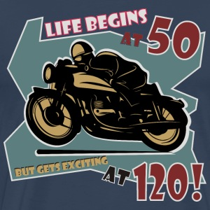 Life begins at 50 T-Shirts - Men's Premium T-Shirt
