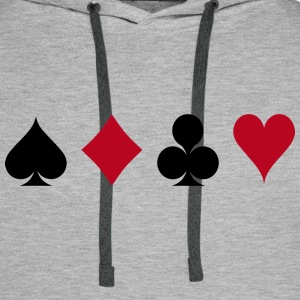 Card Game - Playind Card Hoodies & Sweatshirts - Men's Premium Hoodie