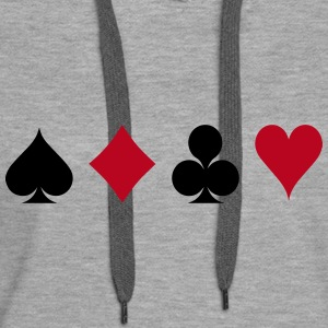 Card Game - Playind Card Hoodies & Sweatshirts - Women's Premium Hoodie