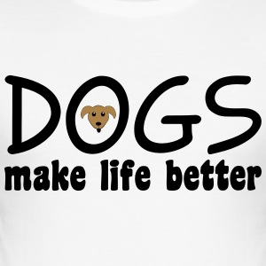 Dogs T-Shirts - Men's Slim Fit T-Shirt