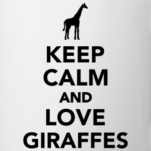 Keep calm and love Giraffes Flaschen & Tassen - Tasse