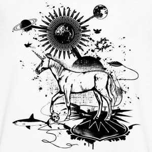 surreal Unicorn  T-Shirts - Men's V-Neck T-Shirt