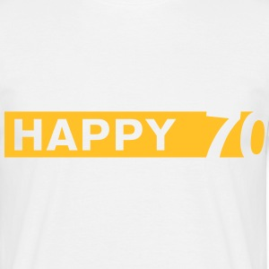 Happy 70 T-Shirts - Männer T-Shirt