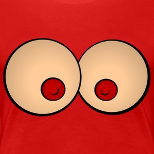Comic breasts T-Shirts - Women's Premium T-Shirt