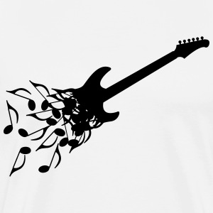 Noter Electric Guitar T-shirts - Herre premium T-shirt