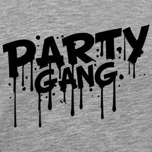 Gang Party Style comique Graffiti Tee shirts - T-shirt Premium Homme
