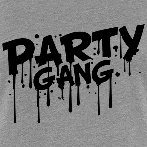 Gang Party Style comique Graffiti Tee shirts - T-shirt Premium Femme