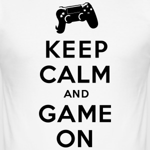 Keep Calm and Game on - Männer Slim Fit T-Shirt