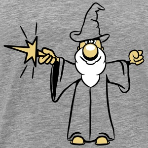 Wizard toverstaf magic Hat grappig T-shirts - Mannen Premium T-shirt