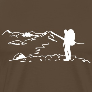 Backpacker - Wanderer T-Shirts - Männer Premium T-Shirt