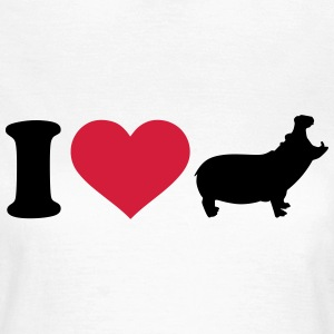 I love Nilpferd T-Shirts - Frauen T-Shirt