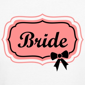 bride retro frame with bow Magliette - T-shirt ecologica da donna