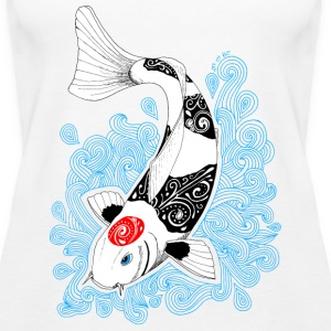 Koi Karpfen Design Tops - Frauen Premium Tank Top