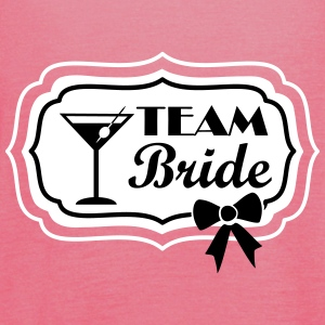 team bride, retro frame with bow Top - Top da donna della marca Bella