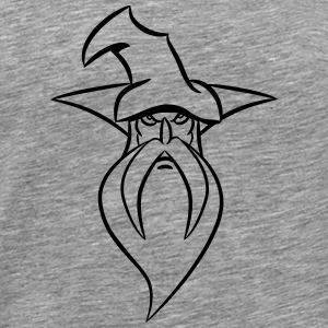 Veiviseren Magic lue grim T-skjorter - Premium T-skjorte for menn