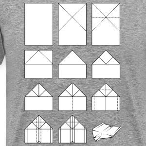Papierflieger Faltanleitung Shirt - Männer Premium T-Shirt