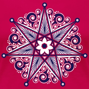 Elven Star, Perfection & Protection, Heptagram,  T-shirts - Premium-T-shirt dam