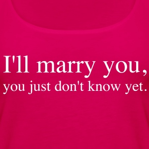 I will marry you | Ich werde Dich heiraten | Single - Women's Premium Tank Top