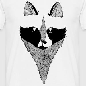 Tee shirt Chat Design Noir et blanc - T-shirt Homme