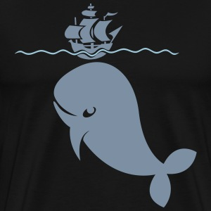 Wal under pirate ship T-Shirts - Men's Premium T-Shirt