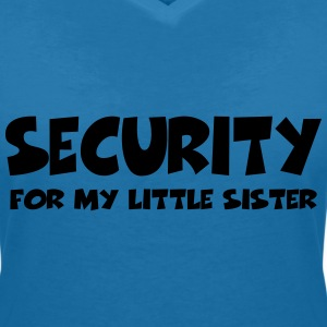 Security for my little sister Tee shirts - T-shirt col V Femme