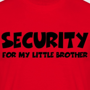 Security for my little brother T-shirts - Herre-T-shirt