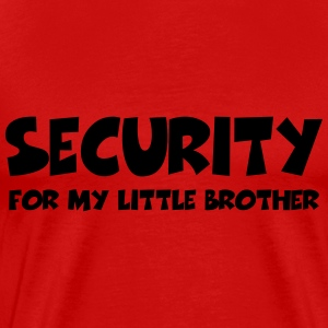 Security for my little brother T-shirts - Mannen Premium T-shirt