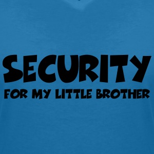 Security for my little brother T-Shirts - Women's V-Neck T-Shirt