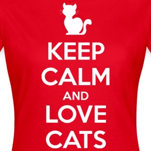 Keep Calm and Love Cats (dark) T-Shirts - Women's T-Shirt