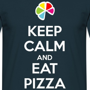 Keep Calm and Eat Pizza 1 (dark) T-Shirts - Men's T-Shirt
