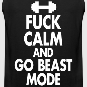 Fuck Calm And Go Beastmode - Fitness, Bodybuilding Tank Tops - Men's Premium Tank Top