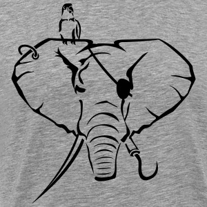 Elephants as a pirate T-Shirts - Men's Premium T-Shirt