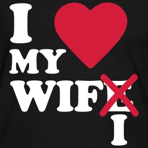 I love my wife wifi Tee shirts - T-shirt contraste Homme