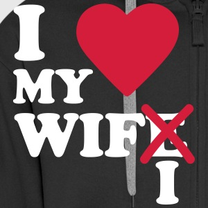 I love my wife wifi Sweat-shirts - Veste à capuche Premium Homme