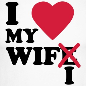 I love my wife wifi Manches longues - T-shirt baseball manches longues Homme