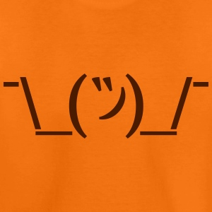 Kinder Premium T-Shirt Shruggie Emoticon - Kinder Premium T-Shirt
