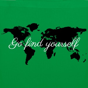 Go Find Yourself - Travel The World! Taschen & Rucksäcke - Stoffbeutel