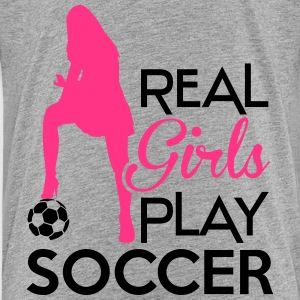 Real Girls play soccer Camisetas - Camiseta premium niño