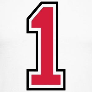 Number One - 1 Long sleeve shirts - Men's Long Sleeve Baseball T-Shirt