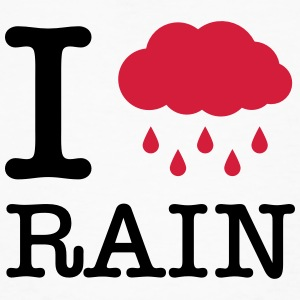 I Love Rain T-Shirts - Men's Organic T-shirt