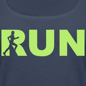 run! - running woman Tops - Frauen Premium Tank Top