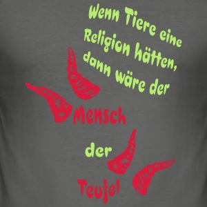 Teufel T-Shirts - Männer Slim Fit T-Shirt