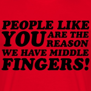 Middle Fingers T-shirts - Mannen T-shirt