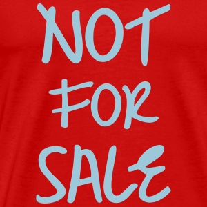 Not For Sale T-shirts - Herre premium T-shirt