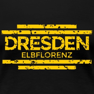 Dresden Elbflorenz 20th Used (Gelb) T-Shirts - Frauen Premium T-Shirt