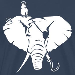 Elephants negative as a pirate T-Shirts - Men's Premium T-Shirt