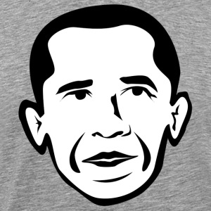 Barak Obama black white T-Shirts - Men's Premium T-Shirt