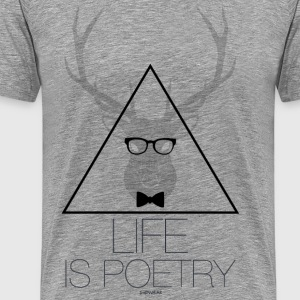 Life is Poetry T-Shirts - Men's Premium T-Shirt